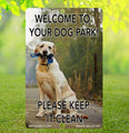 Yellow Labrador Retriever Dog Park Sign