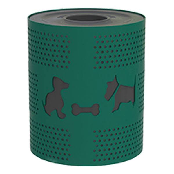 Steel Dog Theme Trash Receptacle