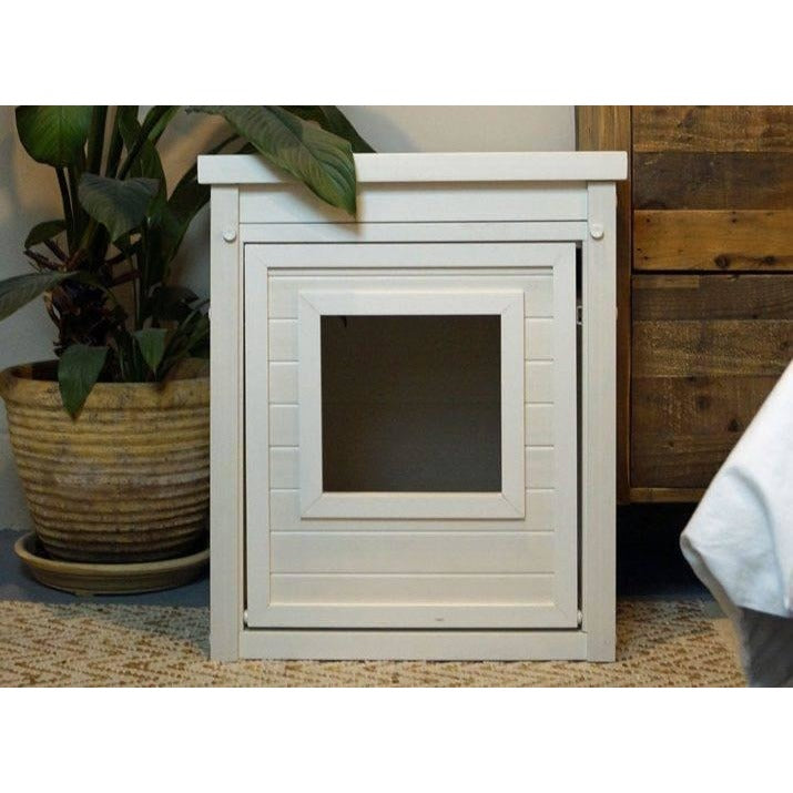 White End Table Cat Litter Box