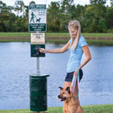 Aluminum DOGIPOT Pet Waste Station With Dog