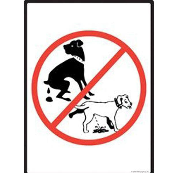 HISVISION Stop Dogs from Pooping and P No Peeing//Pooping Be Respectful Dog Sign