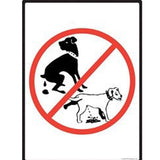 No Dog Pooping and Peeing Sign