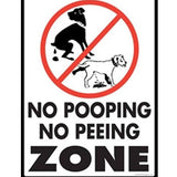 No Dog Pooping and Peeing Zone