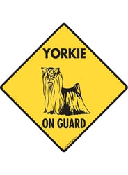 Yorkshire Terrier (Yorkie) On Guard Signs