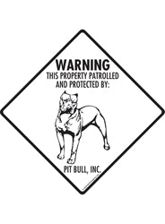 Warning This Property is Patrolled and Protected By Pit Bull, Inc