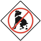 Diamond Shape No Dog Pooping Sign