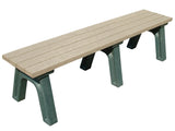 DOGiPark Flat Poly Bench With Dog Bone Motif