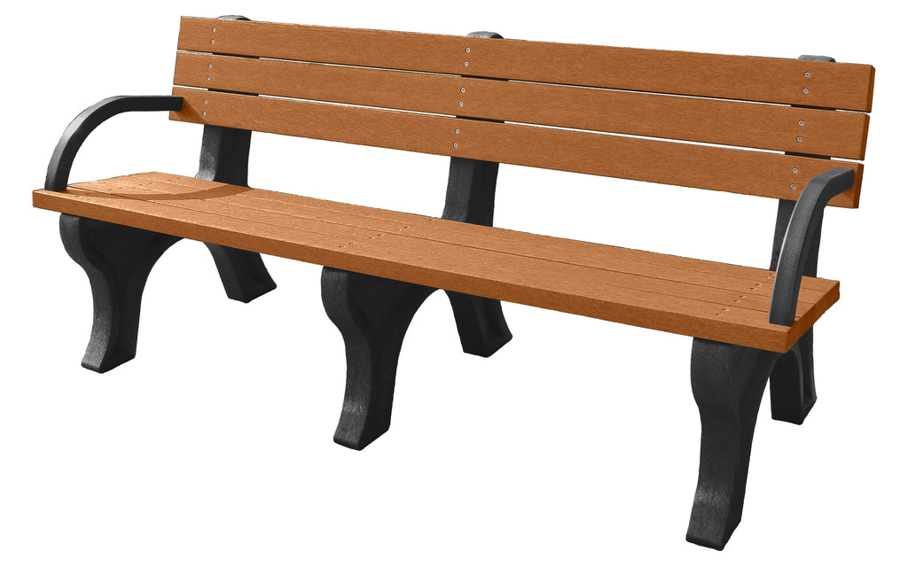 Backed Poly Bench With Arms