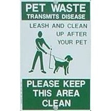 Leash and Clean Up After Your Pet Sign - Please Keep This Area Clean
