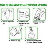 How to use a dog poop pickup bag