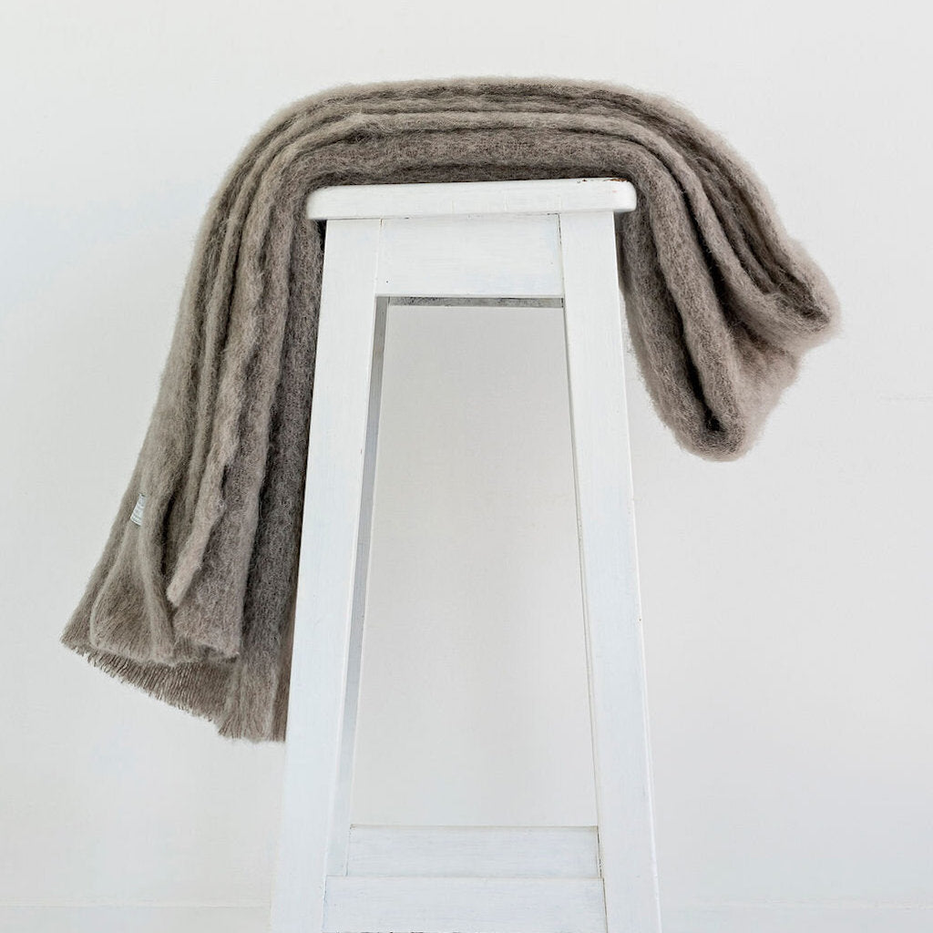 Pure Mohair Throw  |  Manuka