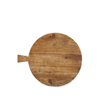 Artisan Round Wood Board with Handle
