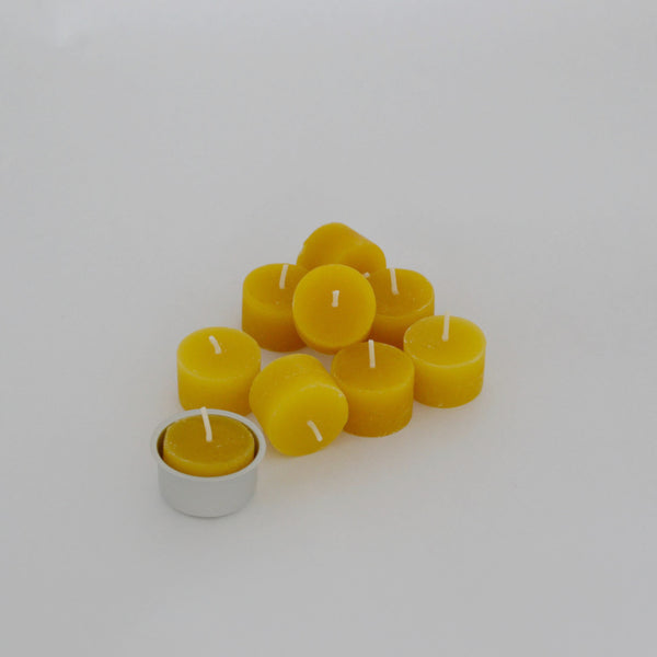 Beeswax Tealights x 9