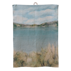 Island Summer Linen Tea Towel
