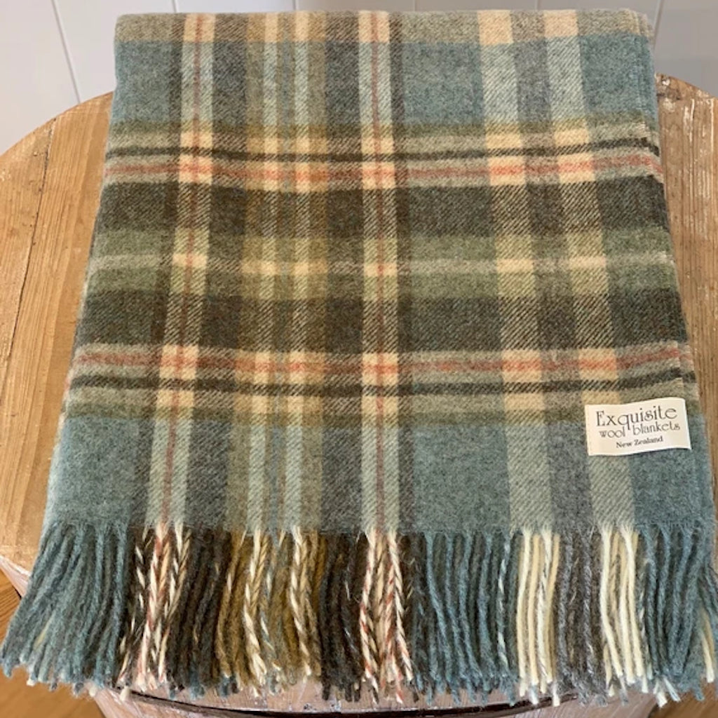 NZ Wool Throw  |  Glen Coe Country Collection  |  Aqua