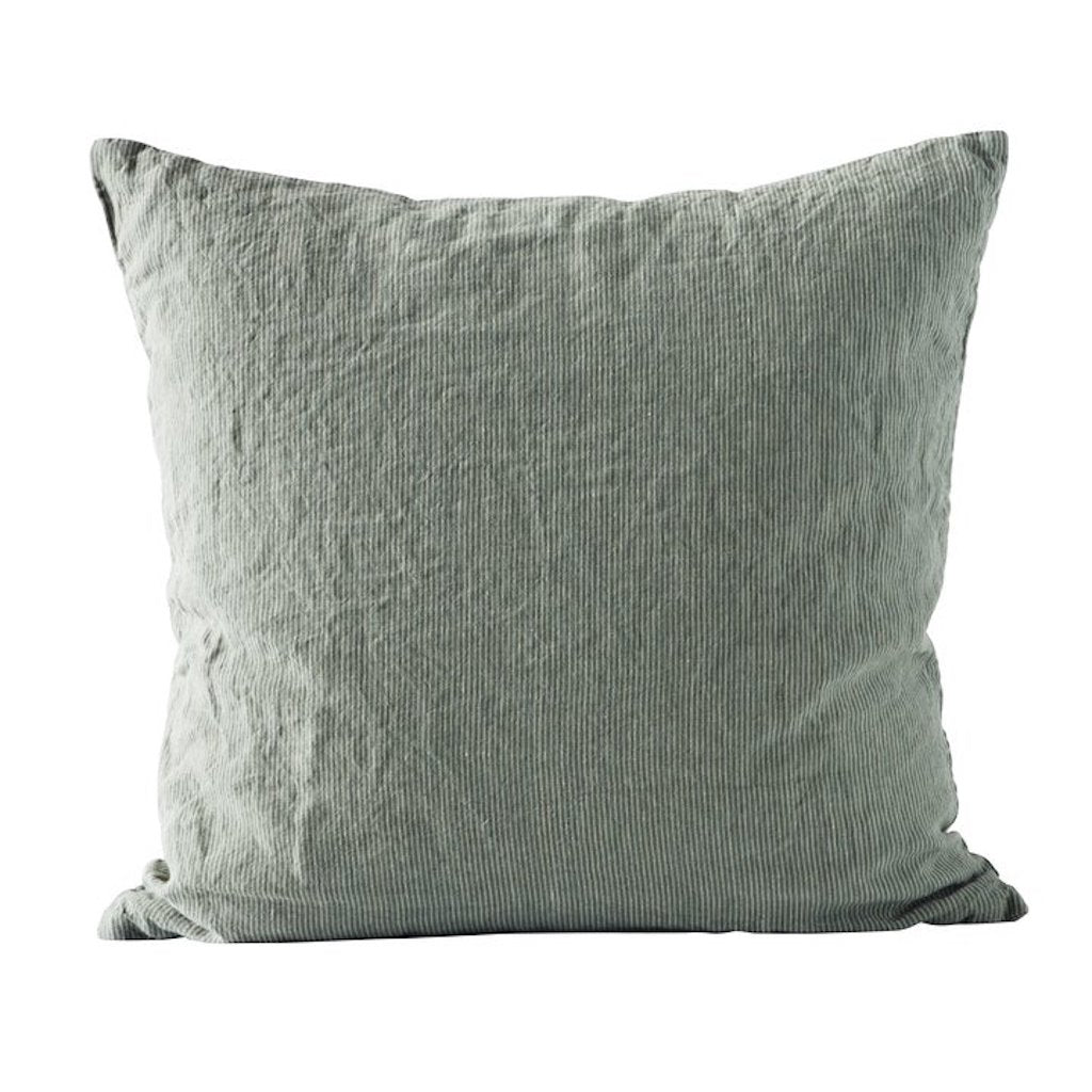 Tine K Home Pin-Stripe  Linen Cushion - Agave