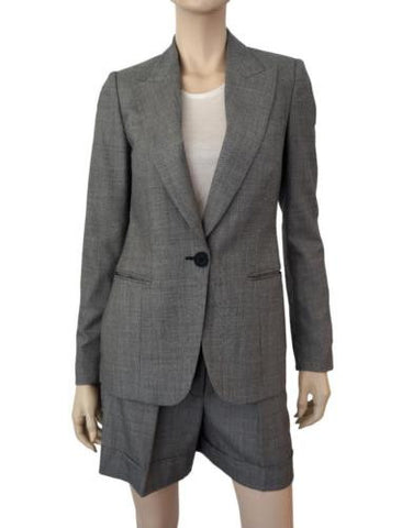 STELLA McCARTNEY Single Button Blazer and Shorts Suit, IT 40 / US 4