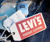 LEVI'S Jeans XS Blue Denim Vintage 1954 501z Cone Mills Tapered 24x32 NEW
