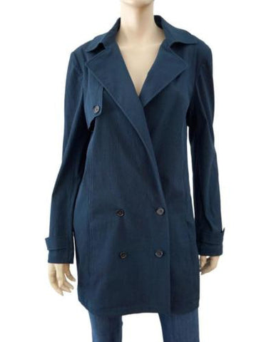 JENNI KAYNE Lightweight Seersucker Trench, Large
