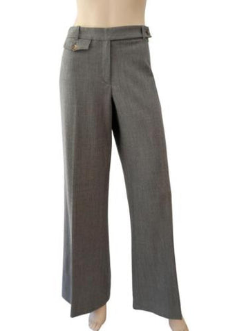 MICHAEL KORS COLLECTION Wide-Leg Wool Pants, Sz 10