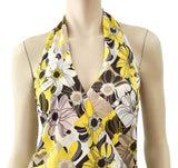 CELINE Floral Print Silk Halter Dress, FR 40 / US 6