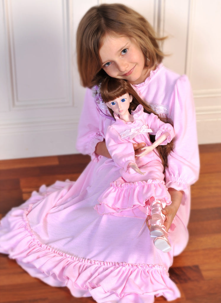 1a9eb54aab82 THE WOODEN SOLDIER Girl s Clara s Pink Nightgown 8 NEW WITH TAGS ...