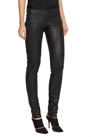 RICK OWENS Black Level Coated Stretch Denim Leggings 38 US 2 NEW WITH TAGS