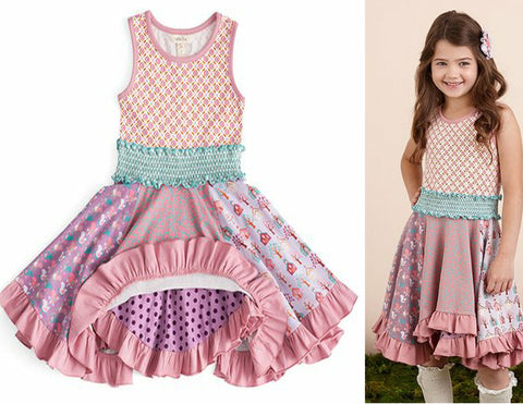 MATILDA JANE 12 Pink Ruffle Palace Ball Dress Once Upon A Time BRAND NEW