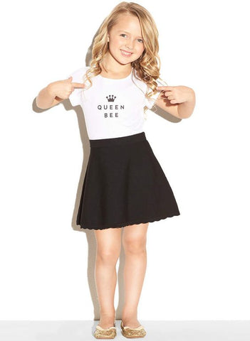 MILLY MINIS Girls Queen Bee Short Sleeve Tee T-Shirt Size 8 NEW WITH TAGS