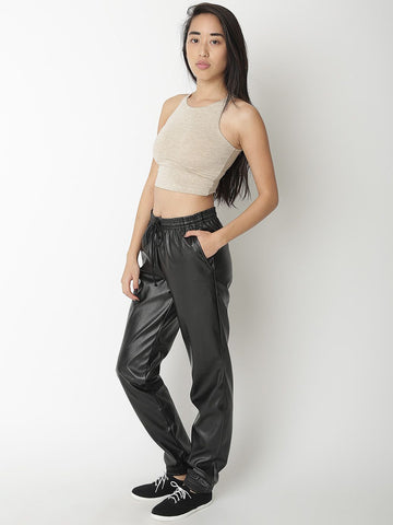 AMERICAN APPAREL Vegan Leather Billionaire Track Pants Joggers XS NEW WITH TAGS
