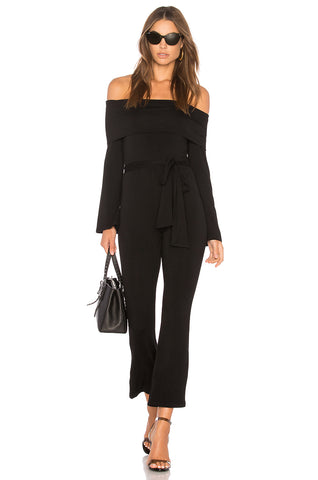 CLAYTON Malik Black Jersey Belted Jumpsuit S NEW WITH TAGS