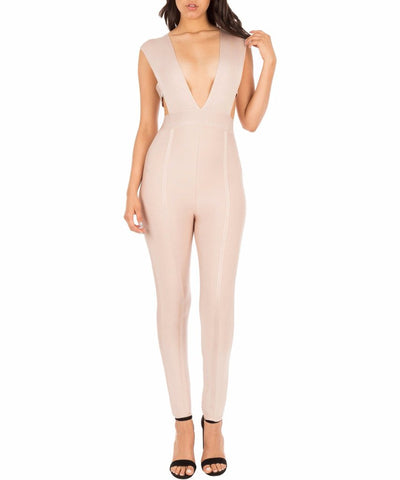 DASH Sleeveless Cage-Top Jumpsuit, Small