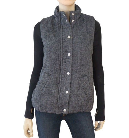 DYLAN Denim Blue Faux Shearling Fur Lined Vest S NEW WITH TAGS