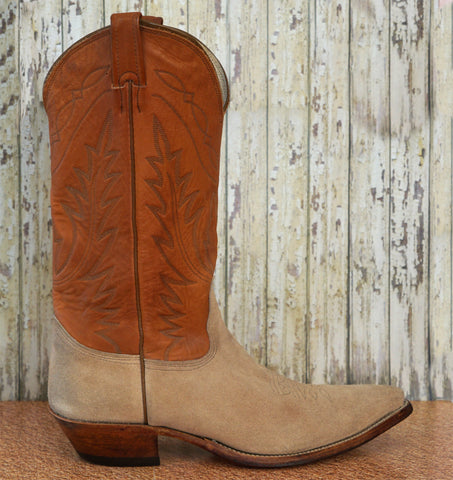 NOCONA Men's Tan Brown Two Tone Leather Cowboy Western Boots 11D