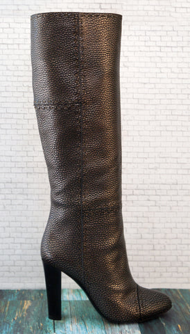 FENDI Metallic Knee Boots, 36/6