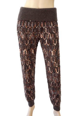MISSONI Wool-Knit Jogging Pants, IT 40 / US 4