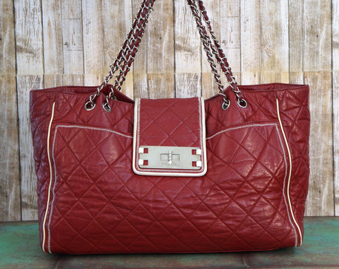 CHANEL Jumbo East-West Quilted Mademoiselle Tote