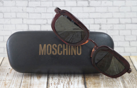 MOSCHINO Square Frame Sunglasses w/ Case