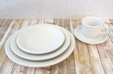 FIESTAWARE Vintage White 5 pc Place Setting Dinner Luncheon Dessert Cup Saucer