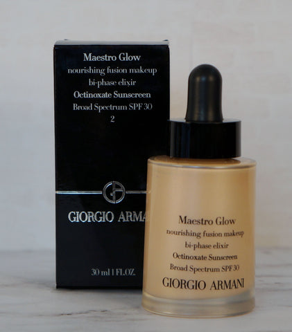 GIORGIO ARMANI Maestro Nourishing Fusion Makeup SPF30 #2 NEW IN BOX