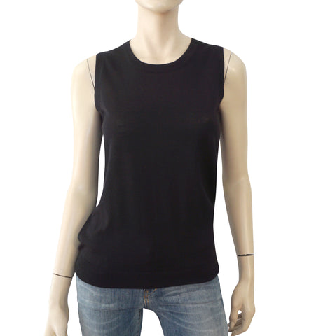 DOLCE & GABBANA Sleeveless Black Wool Knit Top Sweater 40 US 4