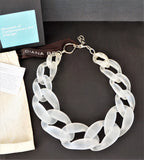 DIANE BROUSSARD Nathan Frosted Plexiglass Chain Link Necklace