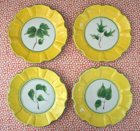 Italian Ceramic Salad/Dessert Plates, Set of 12