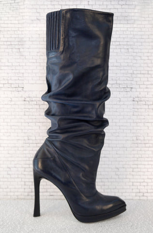 COSTUME NATIONAL Leather Knee-High Boots, 39/8.5