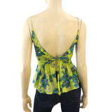 ALESSANDRO DELL'AQUA Top IT 38 US 2 Multi-Color Sleeveless Floral Cotton Top