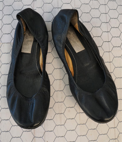 LANVIN 35 Black Leather Ballet Flats 5