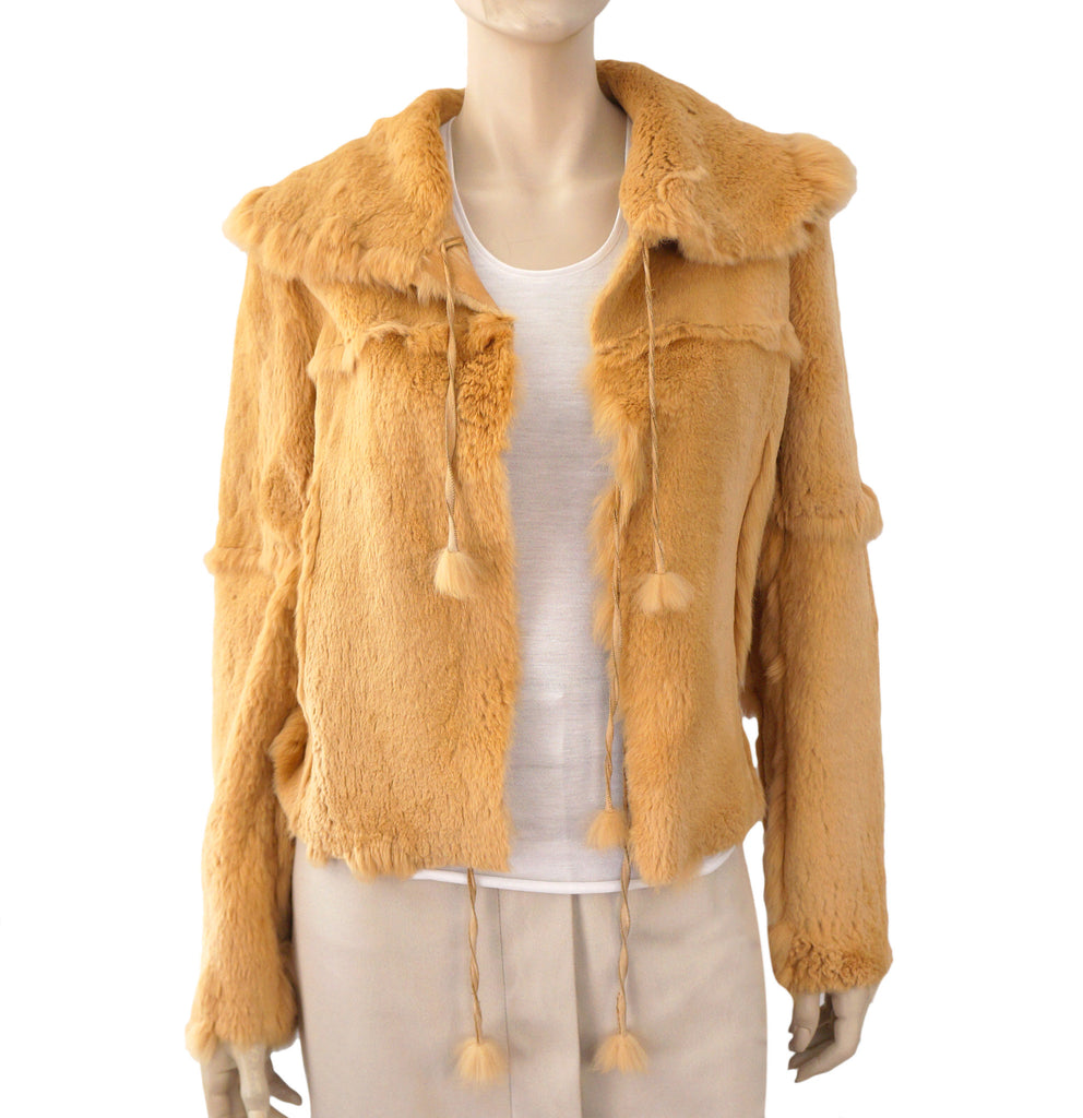 SAKS FIFTH AVENUE Reversible Suede-Rabbit Fur Jacket, Medium