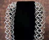 "JOANNE THOMPSON Oxidized Sterling Silver Multi Loop Necklace 20"" NEW IN BOX"