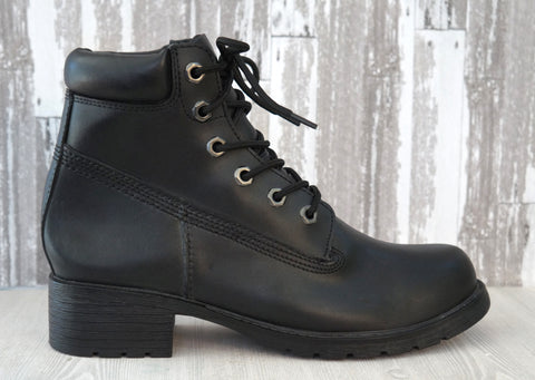 JEFFREY CAMPBELL 37 Black Leather Motorcycle Ankle Boots Booties 7