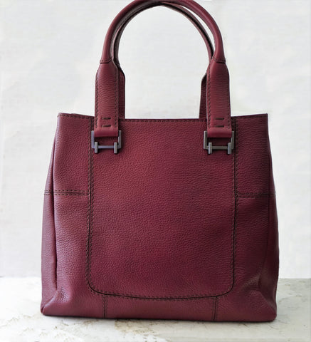 VBH Merlot Grained Leather Top Handle Satchel Shoulder Bag Limited Edition NEW
